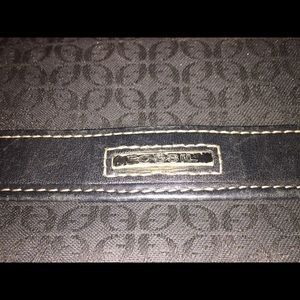 Fossil Bags - Fossil Jacquard Black on Black Logo Pattern Wallet